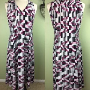 Danny & Nicole Pink White Black Pattern Dress
